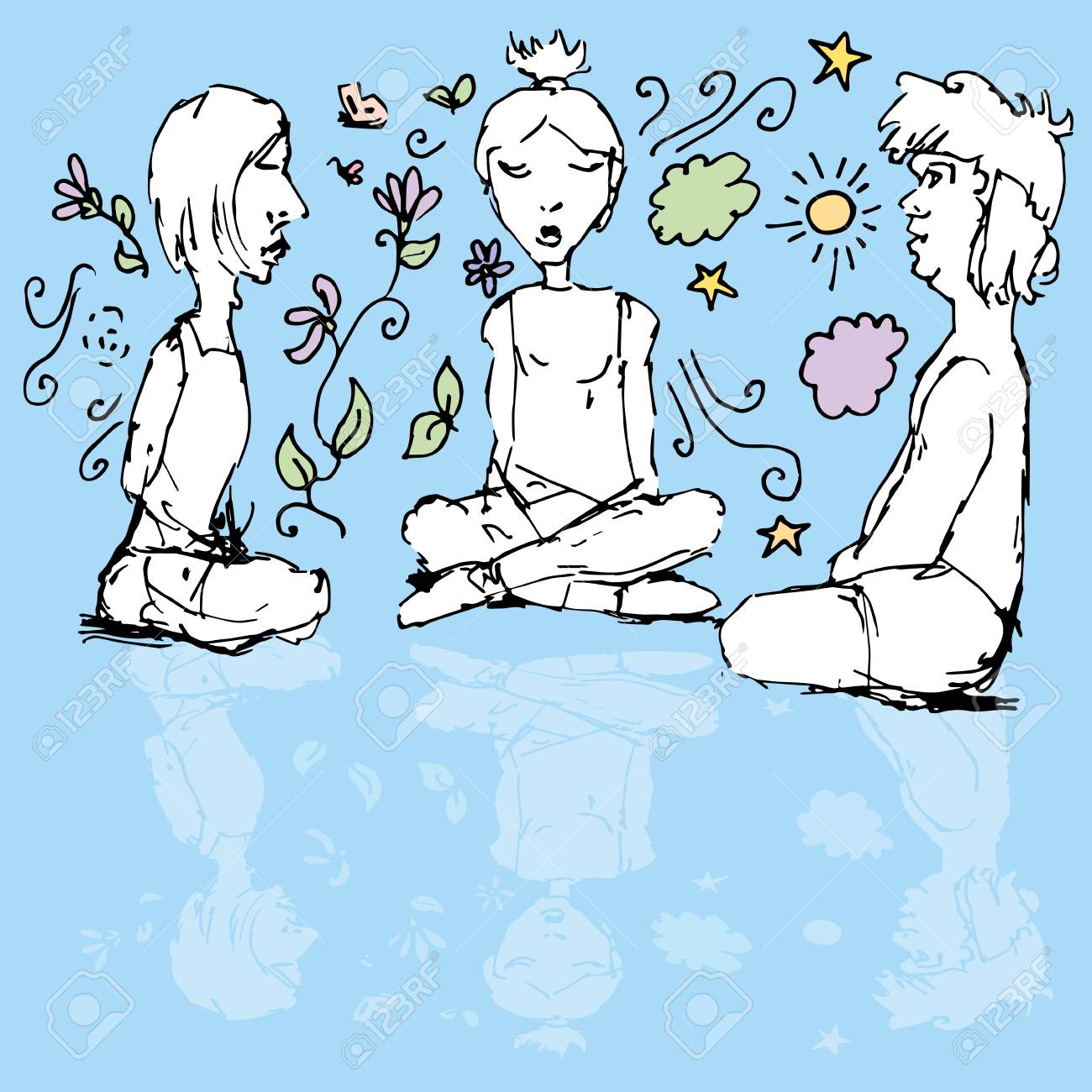 An image of meditating people. Stock Vector - 20725116