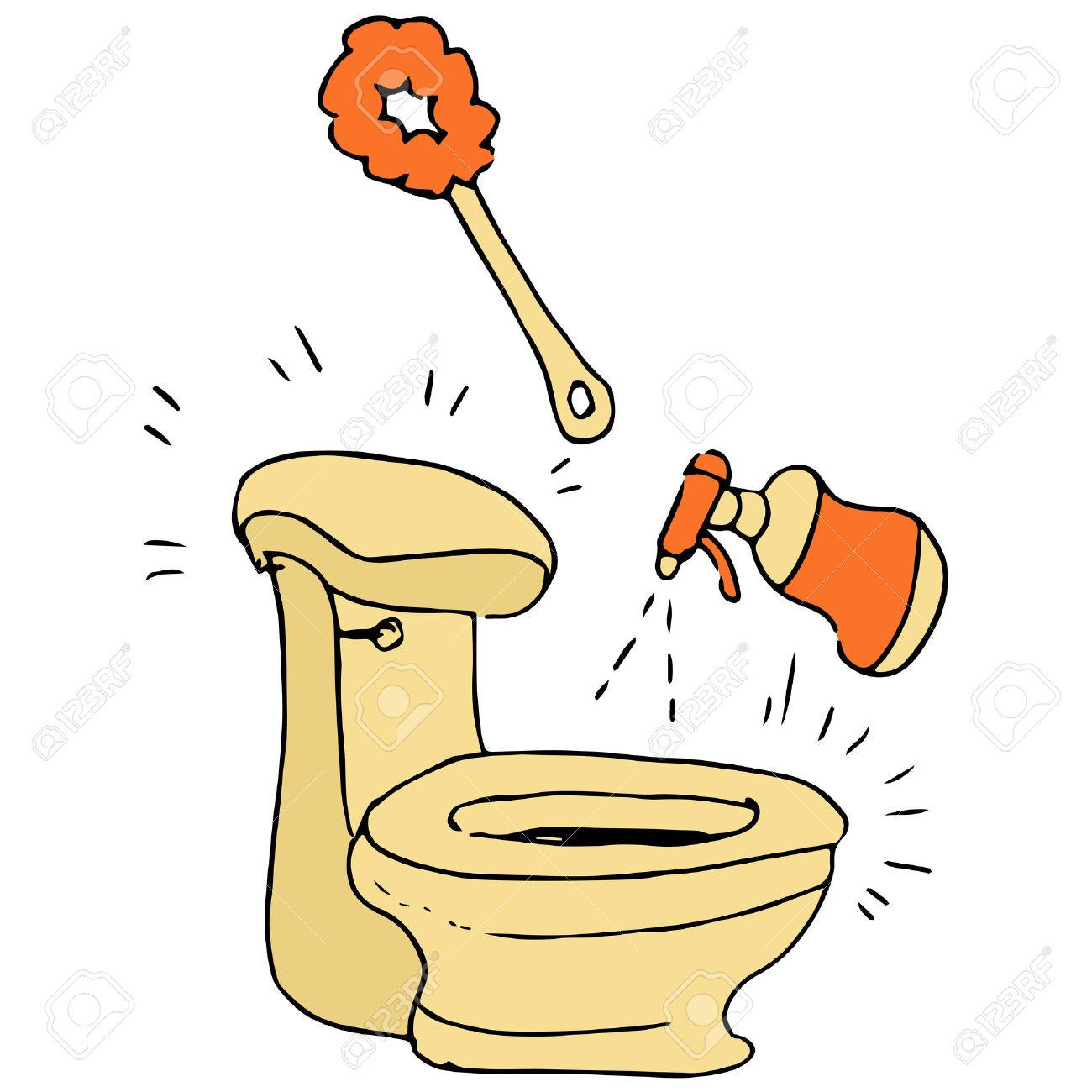 Image result for toilet being cleaned