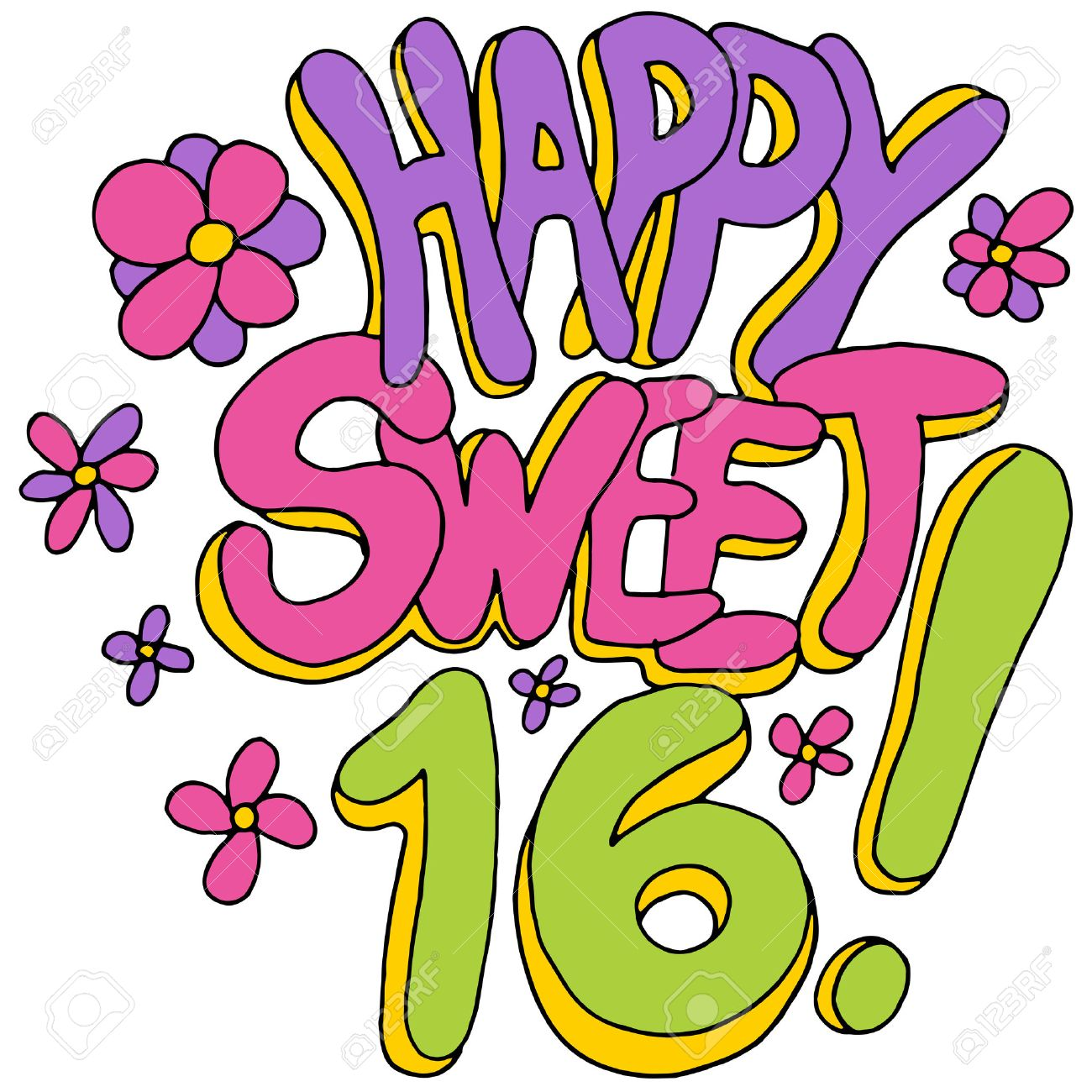 an image of a happy sweet sixteen message royalty free cliparts rh 123rf com sweet 16 clipart sweet sixteen clipart