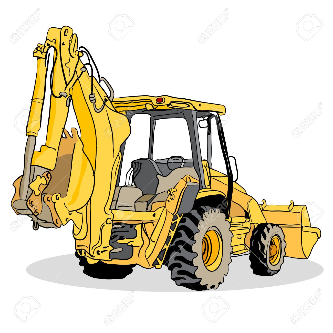 An image of a backhoe loader vehicle stock vector 29197521