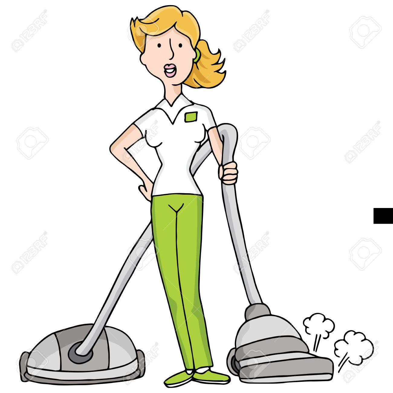 Vacuum cleaner clipart vacuum cleaner clip art - An Image Of Female With A Vacuum Cleaner Stock Vector 29380120