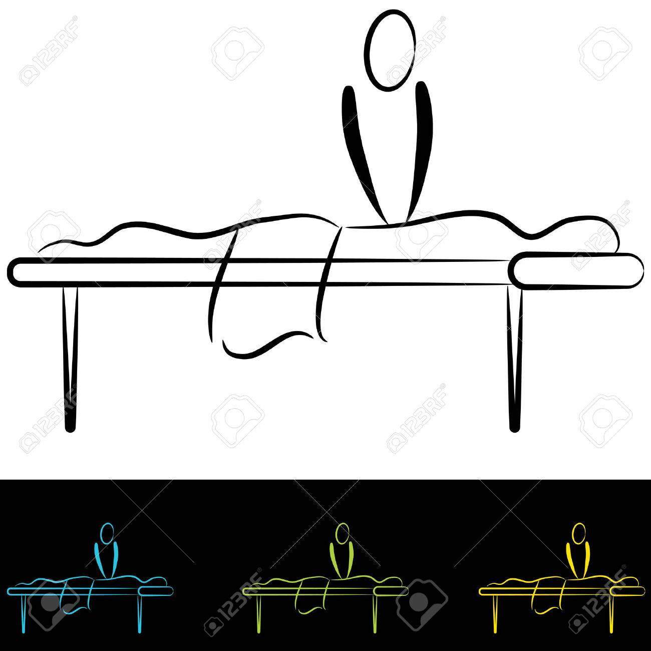 An Image Of People At A Massage Table. Stock Vector   33381906