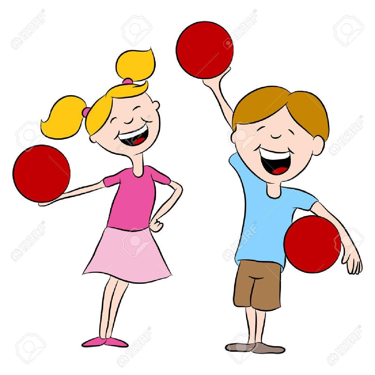 cartoon kids playing dodgeball royalty free cliparts vectors and rh 123rf com dodgeball images clipart Dodgeball Art