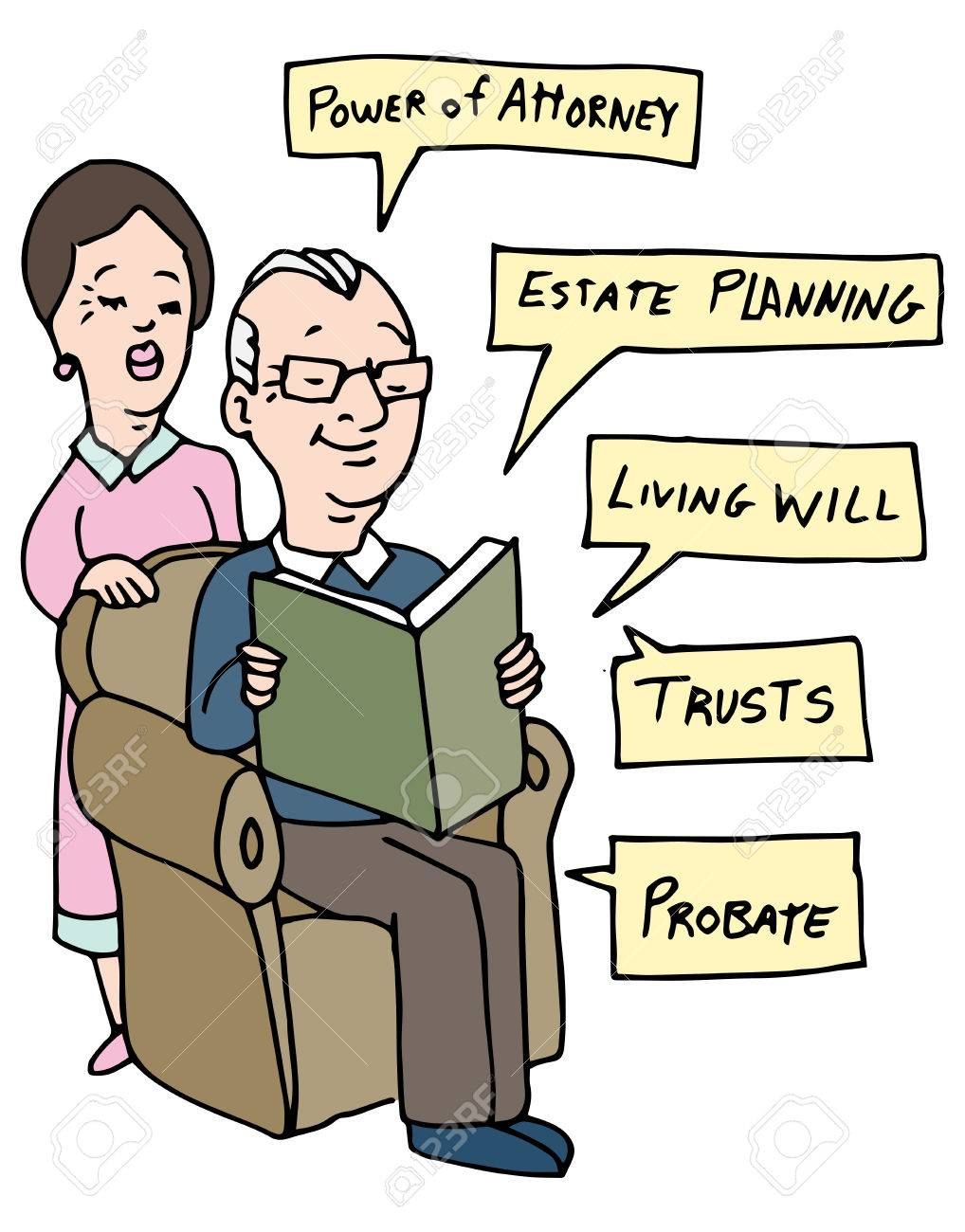 An image of a senior couple researching Estate Planning ideas. - 52728569