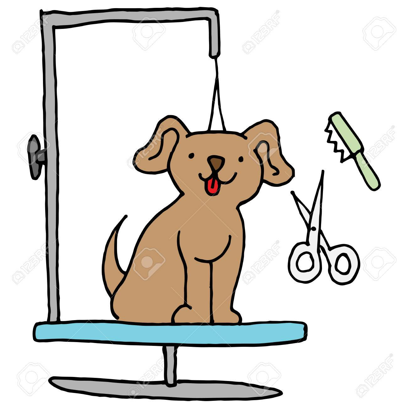 an image of a dog grooming table royalty free cliparts vectors rh 123rf com clipart dog grooming salon enniskillen dog grooming clipart
