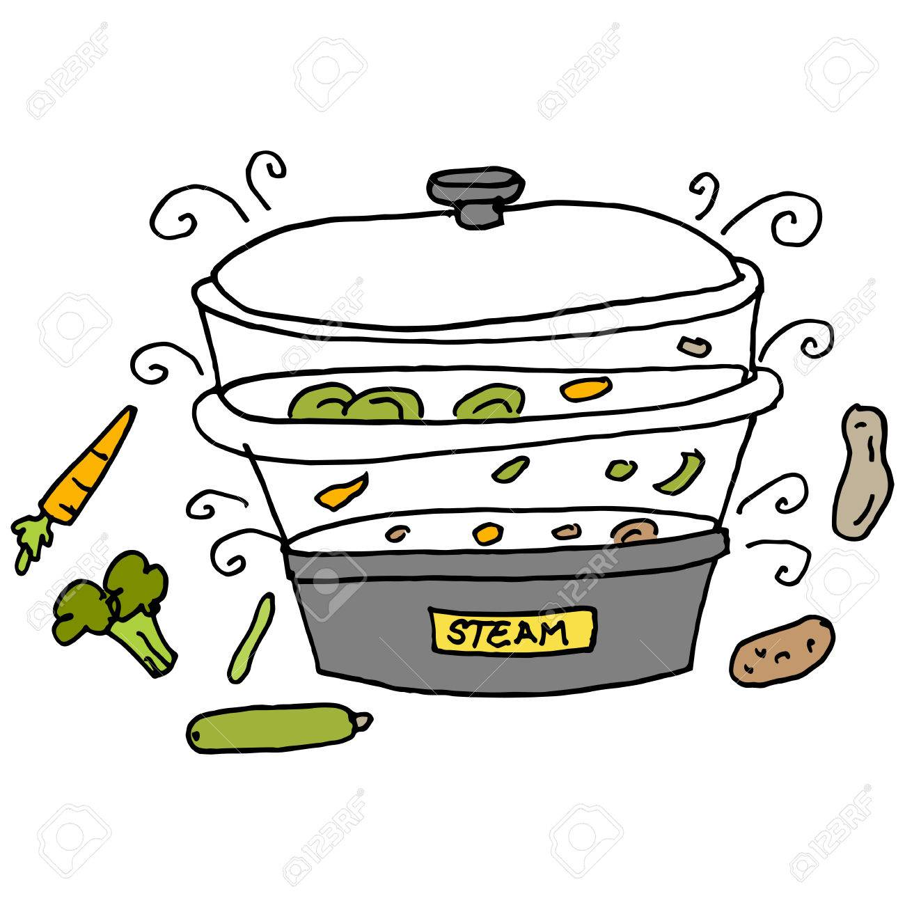An Image Of A Steam Machine Cooker. Royalty Free Cliparts, Vectors, And Stock Illustration. Image 55434057.