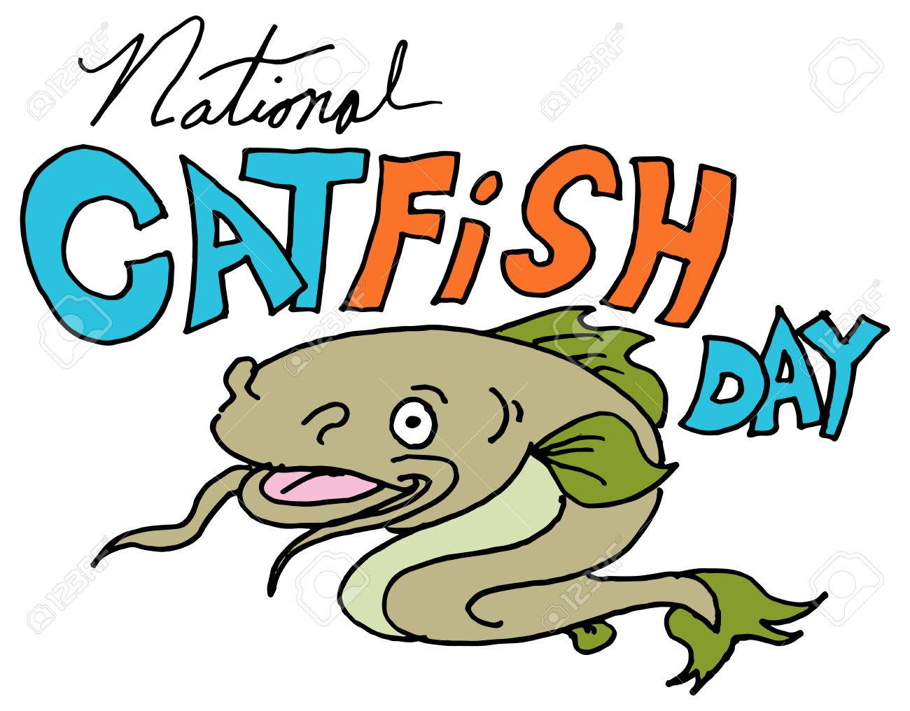 an image of a national catfish day royalty free cliparts vectors rh 123rf com Catfish Graphics Catfish Silhouette