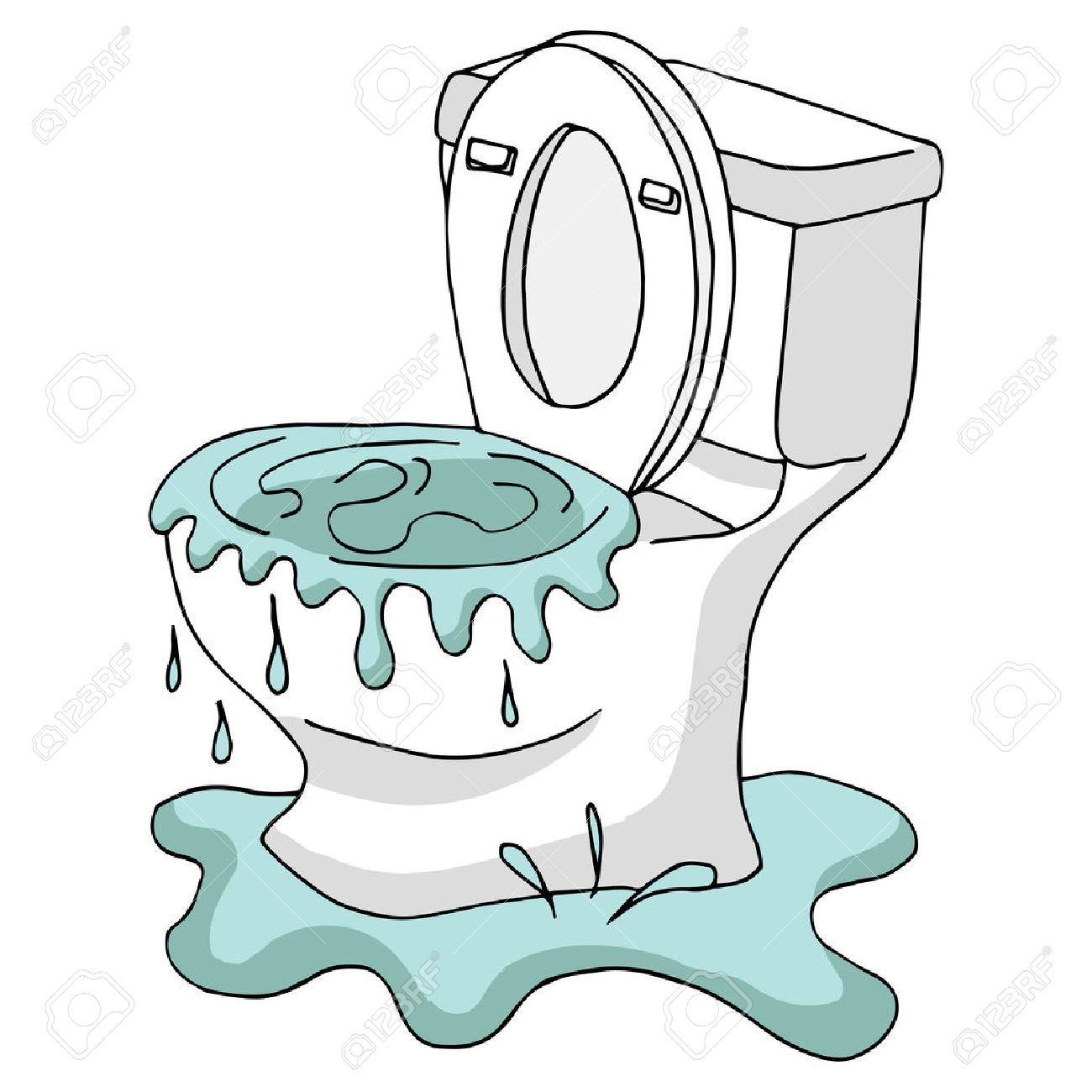 An Image Of A Clogged Toilet. Stock Vector   67151224