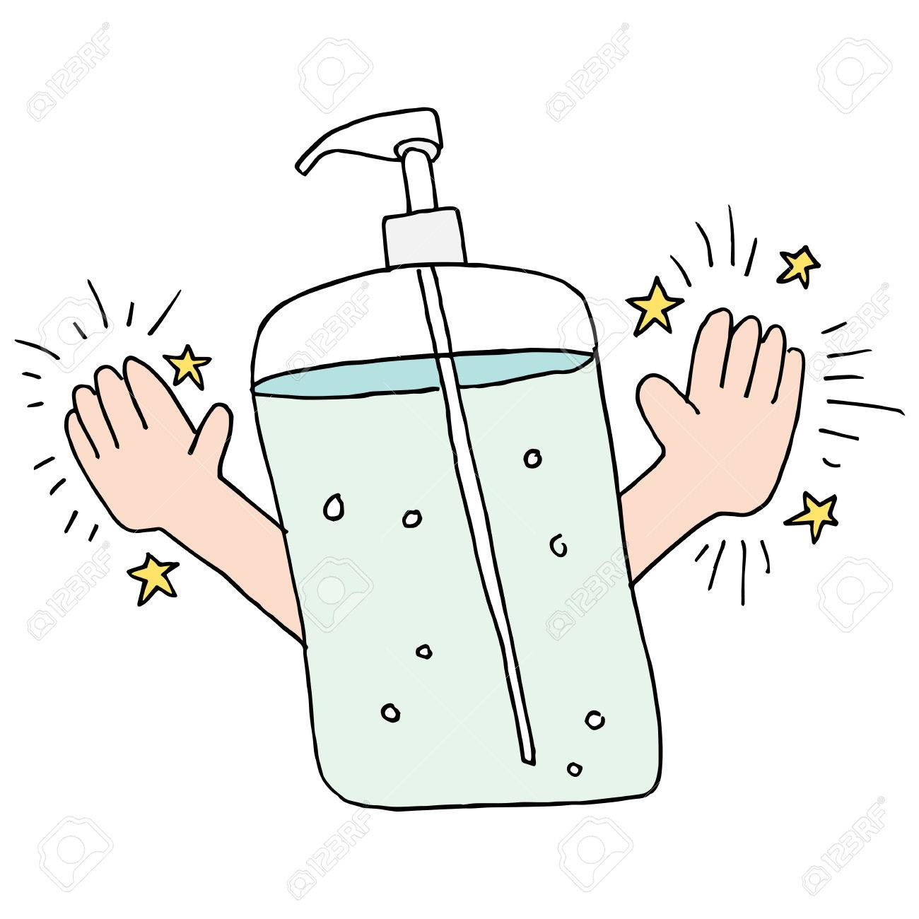 an image of a clean hands using hand sanitizer royalty free