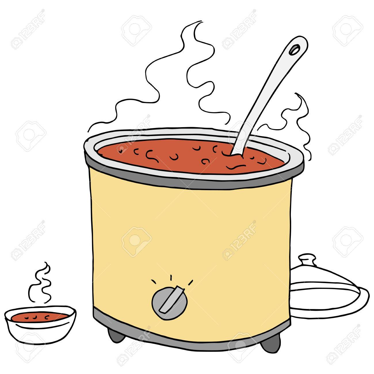 An Image Of A Retro Chili Crockpot Drawing Royalty Free Cliparts Vectors And Stock Illustration Image 73432622