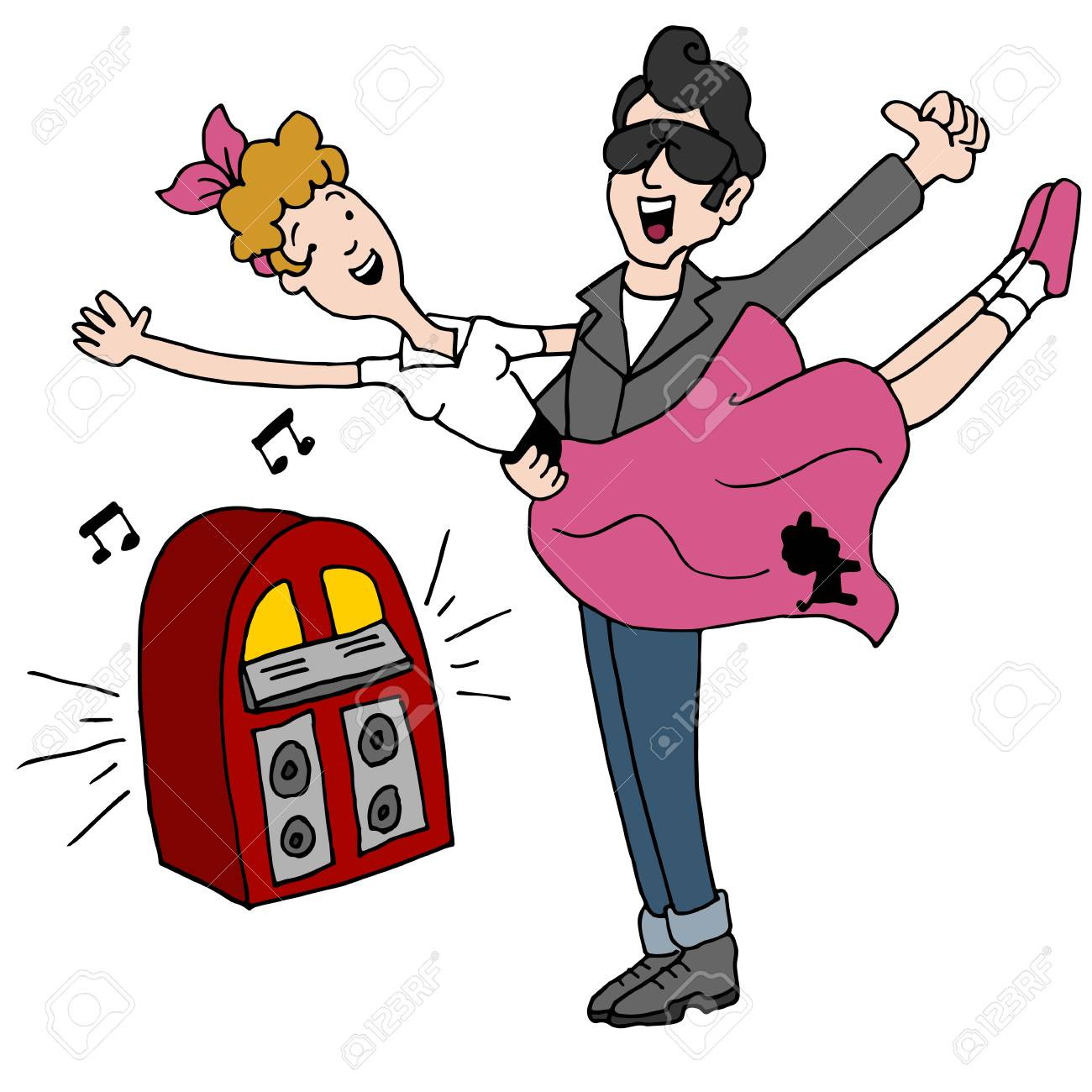 an image of a sock hop rock and roll 1950s dancing couple royalty rh 123rf com  free 50's sock hop clipart