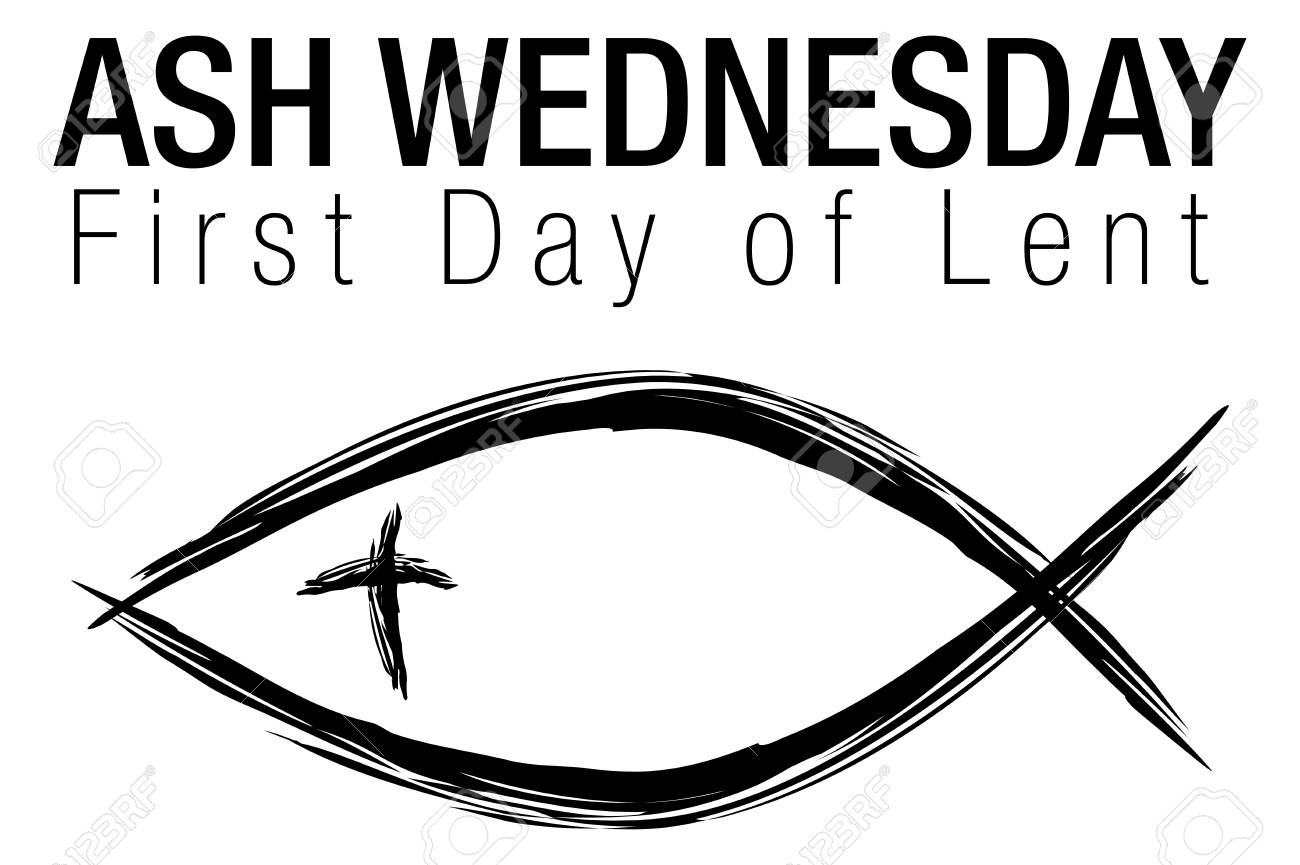 An Image Of A Ash Wednesday Jesus Christian Fish Symbol Isolated