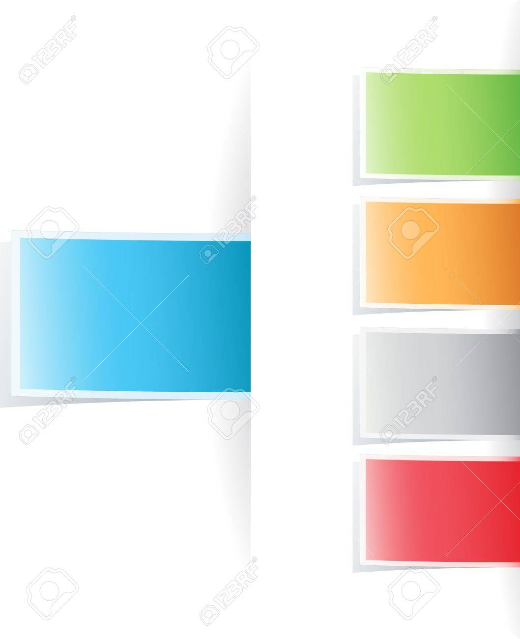 Vector multicolored tag label Stock Vector - 9397297