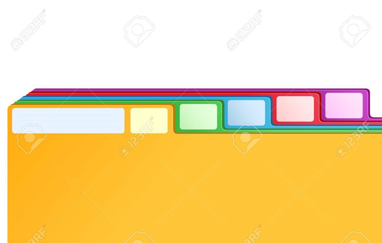Marcadores De Multicolores De Archivo De índice De La Tarjeta ...