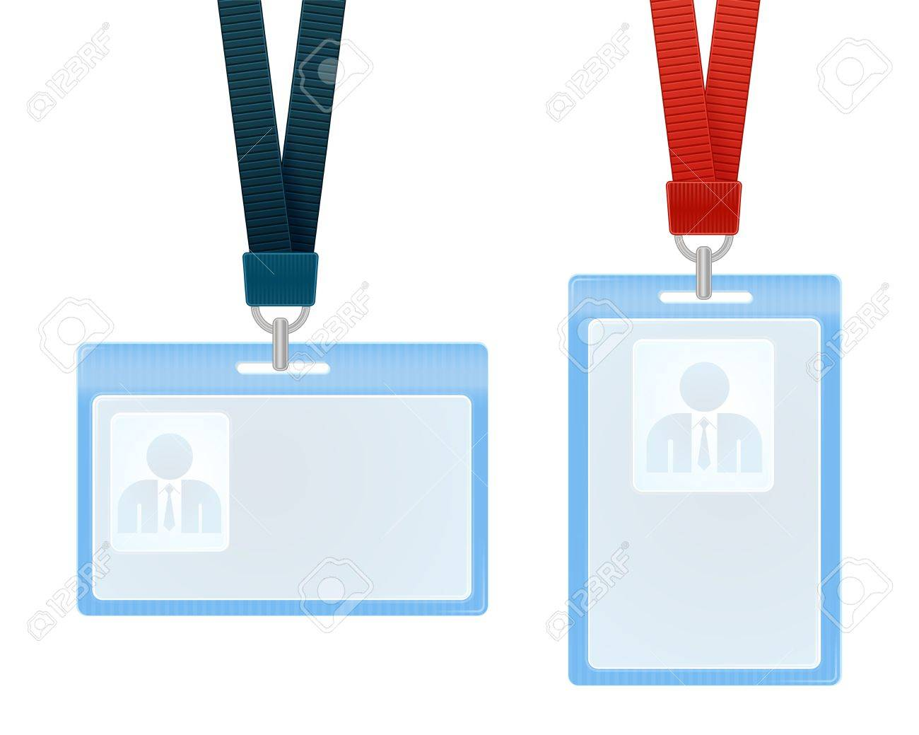 illustration of identification cards with place for photo and text Stock Vector - 13726920