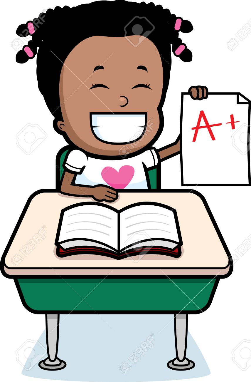 a happy cartoon student good grades royalty cliparts a happy cartoon student good grades stock vector 26425494