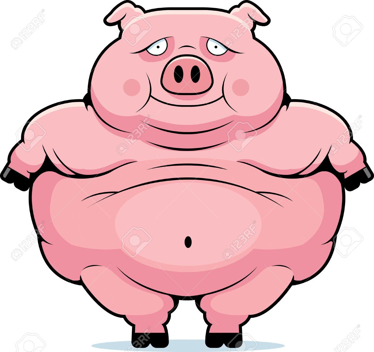 a happy cartoon fat pig standing and smiling royalty free cliparts rh 123rf com fat guinea pig cartoon cute fat pig cartoon