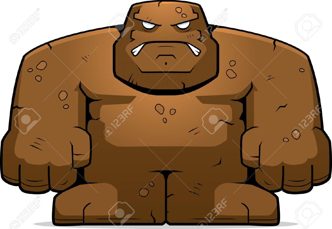 怒りの表現で漫画泥ゴーレムのイラスト素材ベクタ Image 26468440