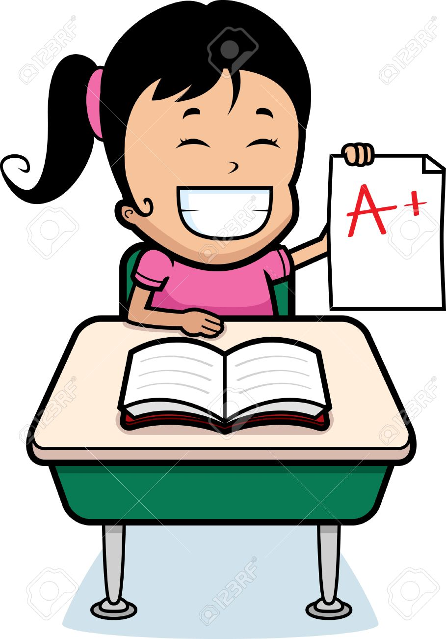 a happy cartoon girl student good grades royalty a happy cartoon girl student good grades stock vector 26531003