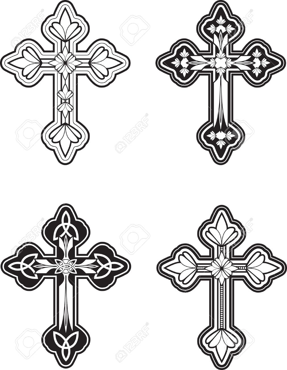 A group of ornate celtic cross designs royalty free cliparts a group of ornate celtic cross designs stock vector 41695073 voltagebd Gallery