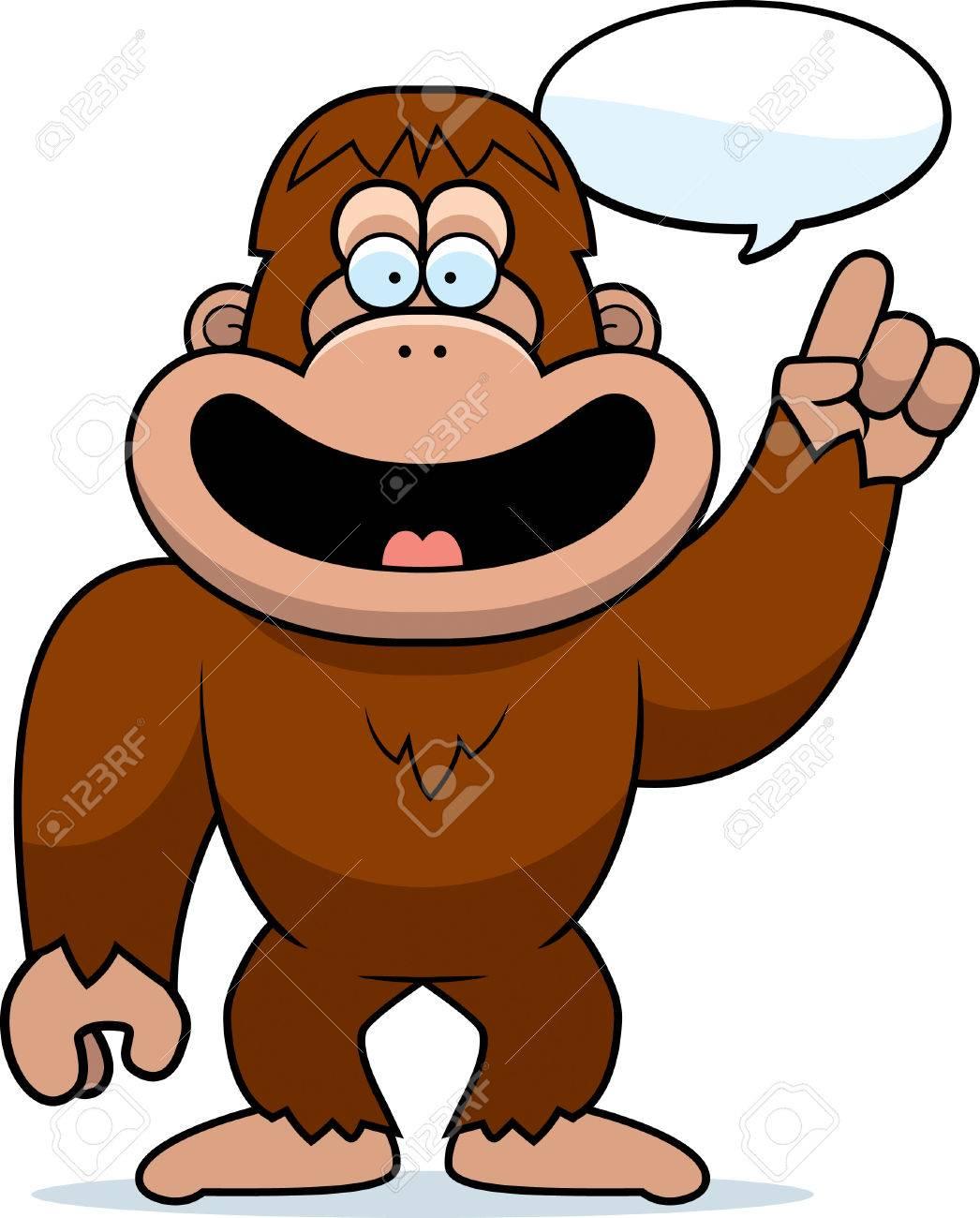 a cartoon illustration of a bigfoot talking royalty free cliparts rh 123rf com  bigfoot clipart free