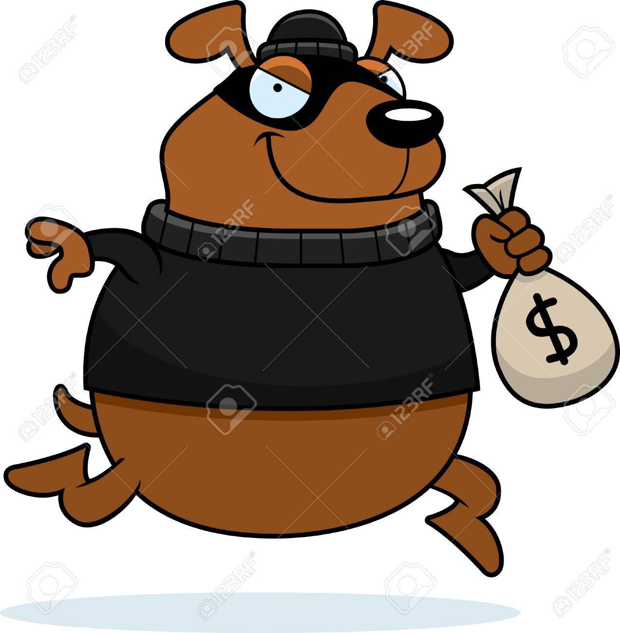 a cartoon illustration of a dog burglar stealing money royalty free rh 123rf com burglar clipart black and white burglar clipart black and white