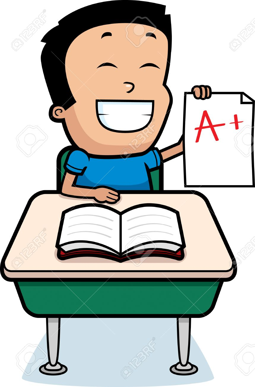 a cartoon illustration of a boy good grades royalty a cartoon illustration of a boy good grades stock vector 42600232