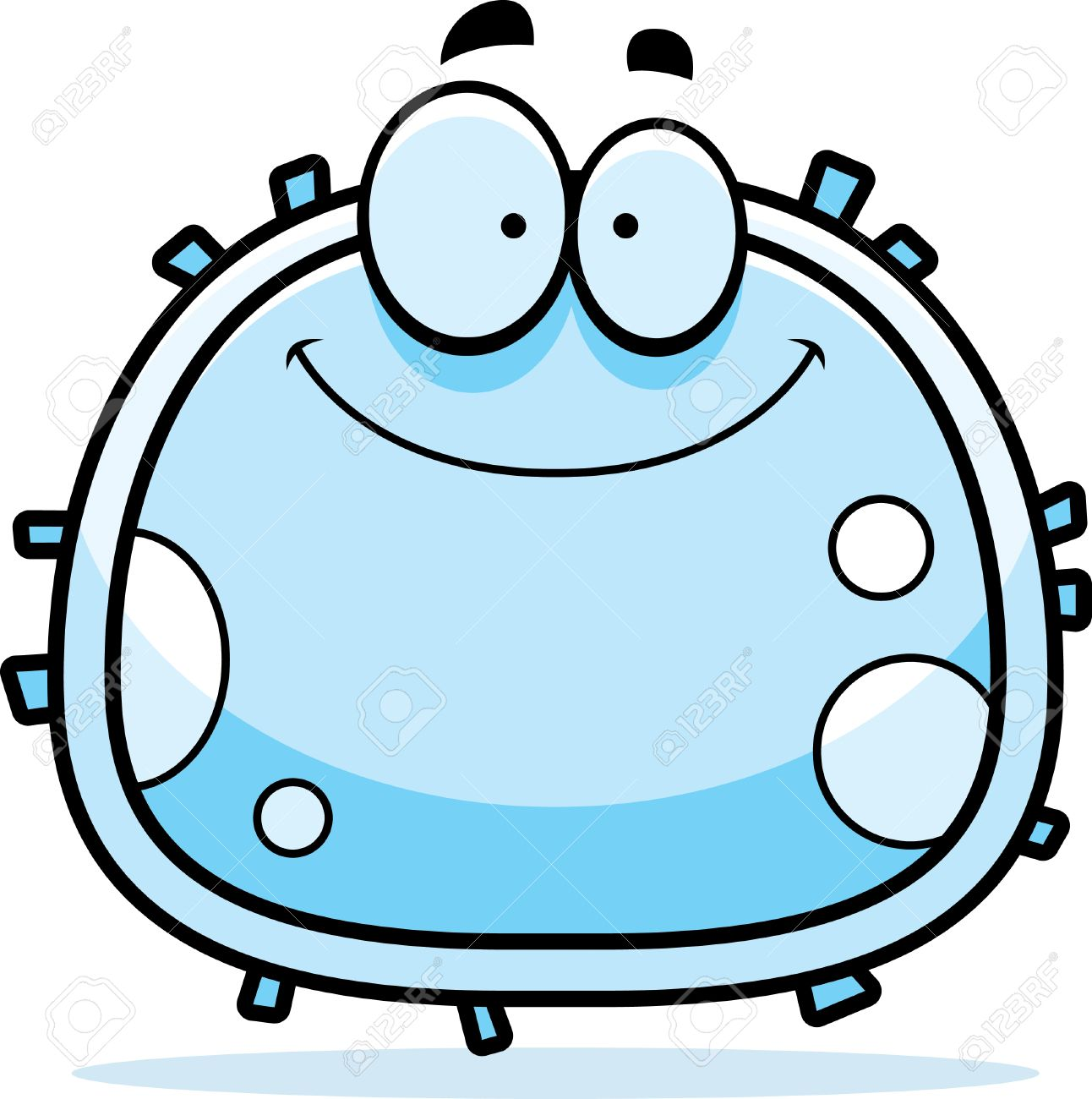 A Cartoon Illustration Of A White Blood Cell Smiling. Royalty Free ...