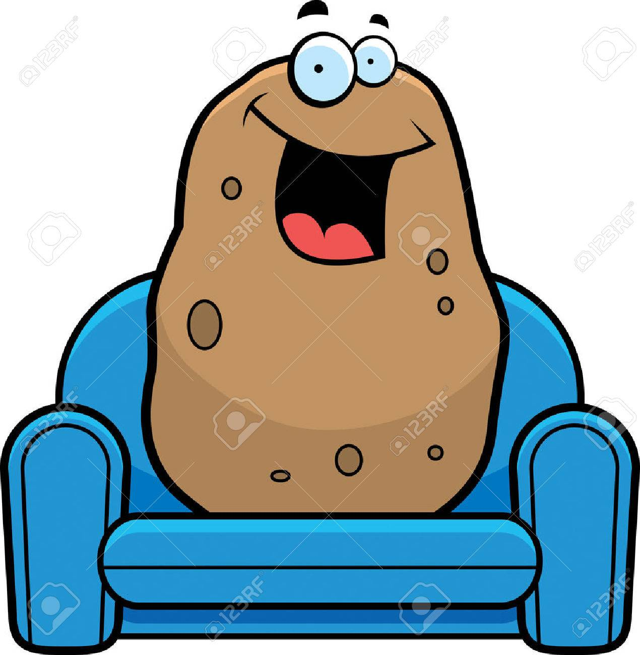 a cartoon illustration of a couch potato royalty free cliparts rh 123rf com Clay Couch Potato couch potato clipart