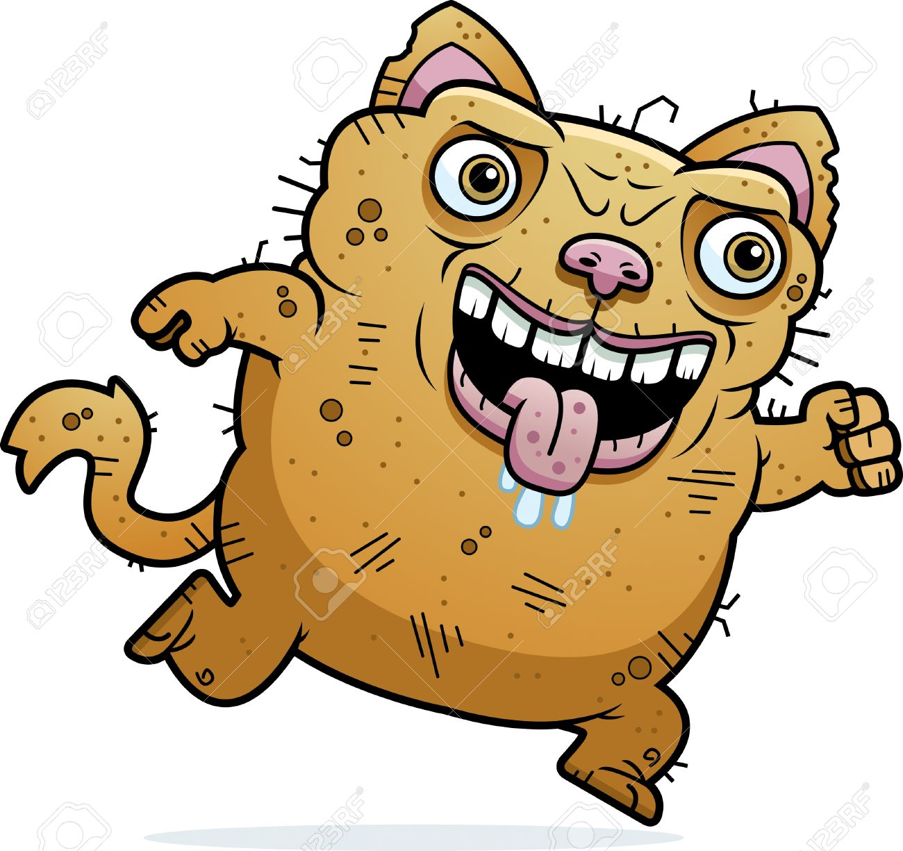 A Cartoon Illustration Of An Ugly Cat Running Royalty Free Cliparts Vectors And Stock Illustration Image 42751343