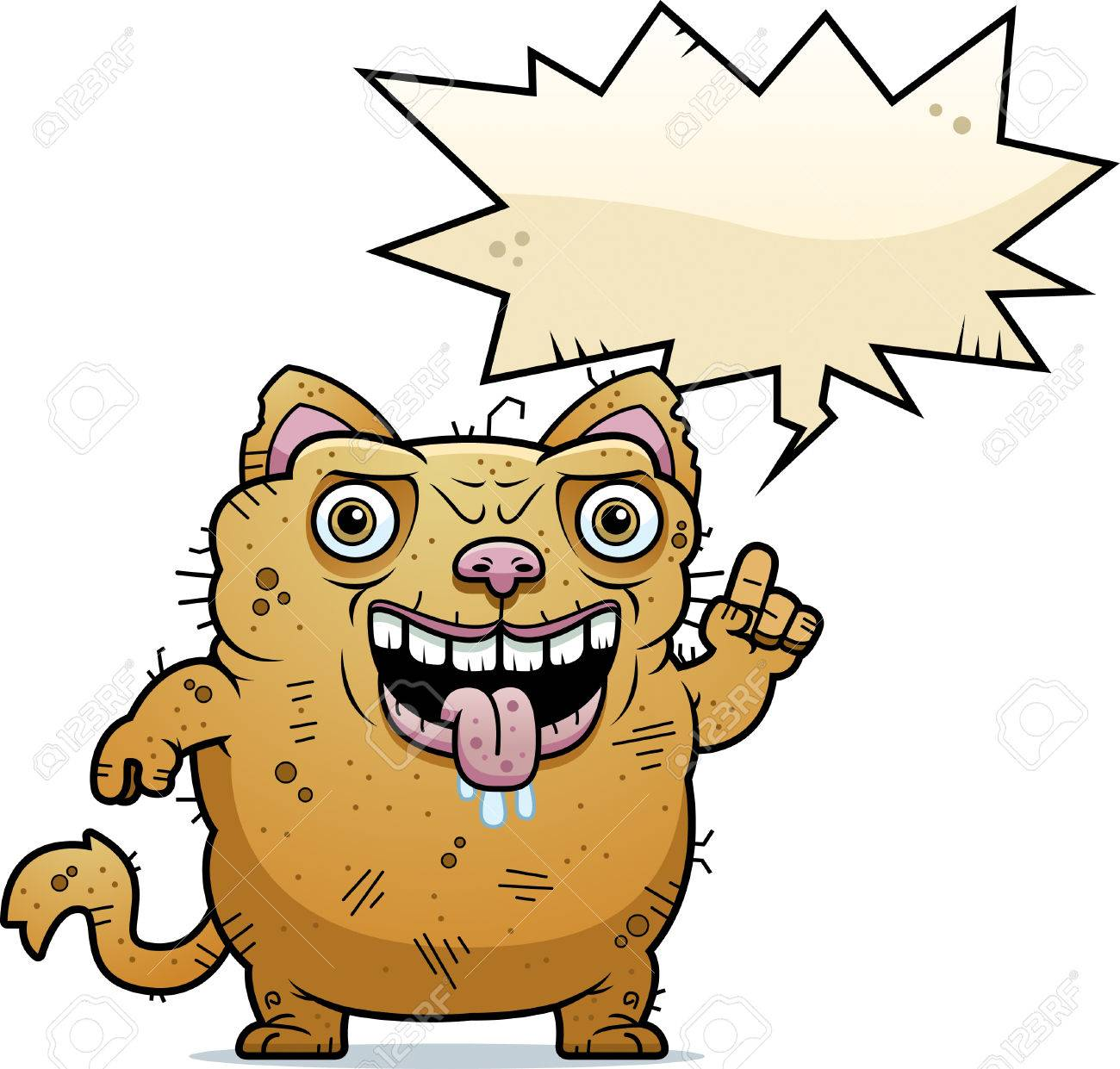 A Cartoon Illustration Of An Ugly Cat Talking Royalty Free Cliparts Vectors And Stock Illustration Image 42751483