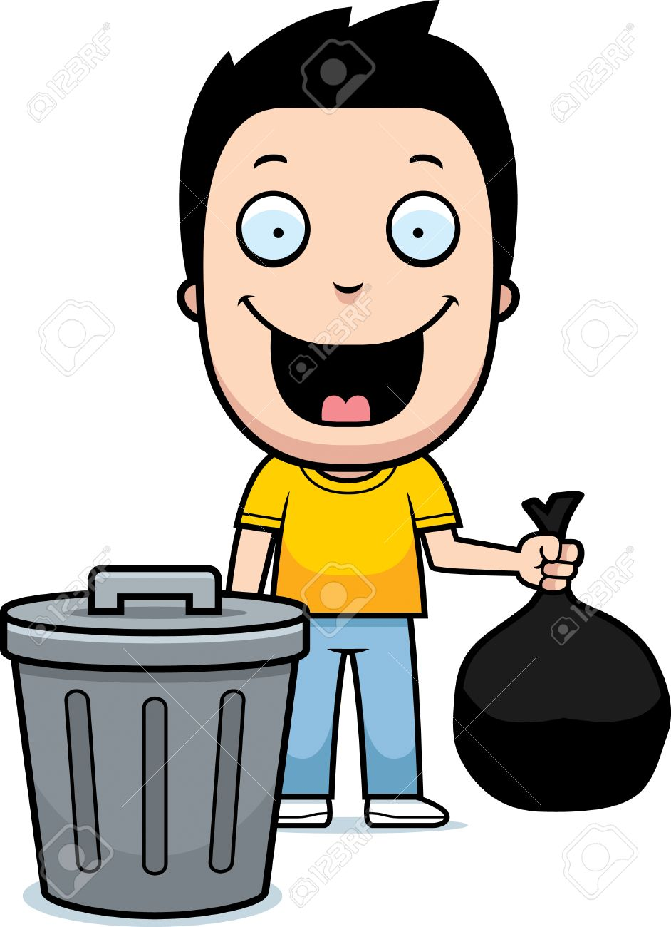 a happy cartoon boy taking out the trash royalty free cliparts rh 123rf com Sunshine Smiley Face Clip Art Laughing Smiley Face Clip Art