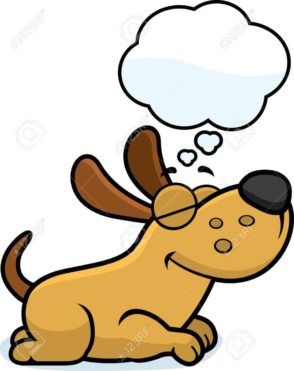 a cartoon illustration of a dog sleeping and dreaming royalty free rh 123rf com  sleeping dog animated clipart
