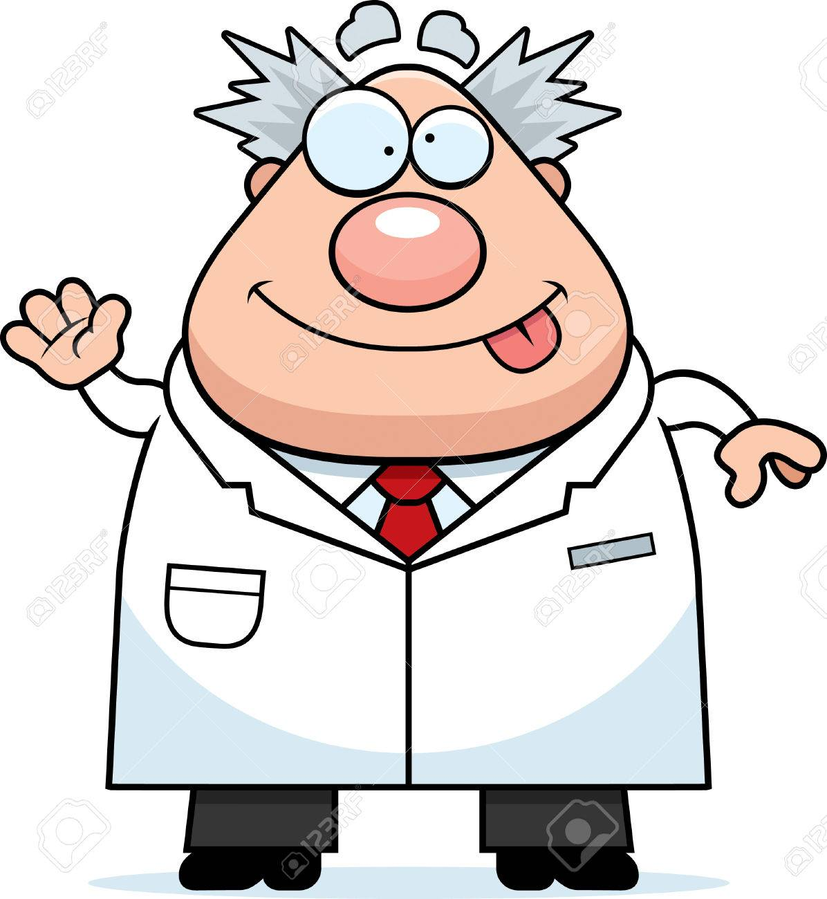 a cartoon illustration of a mad scientist waving royalty free rh 123rf com mad science clipart mad scientist clipart images