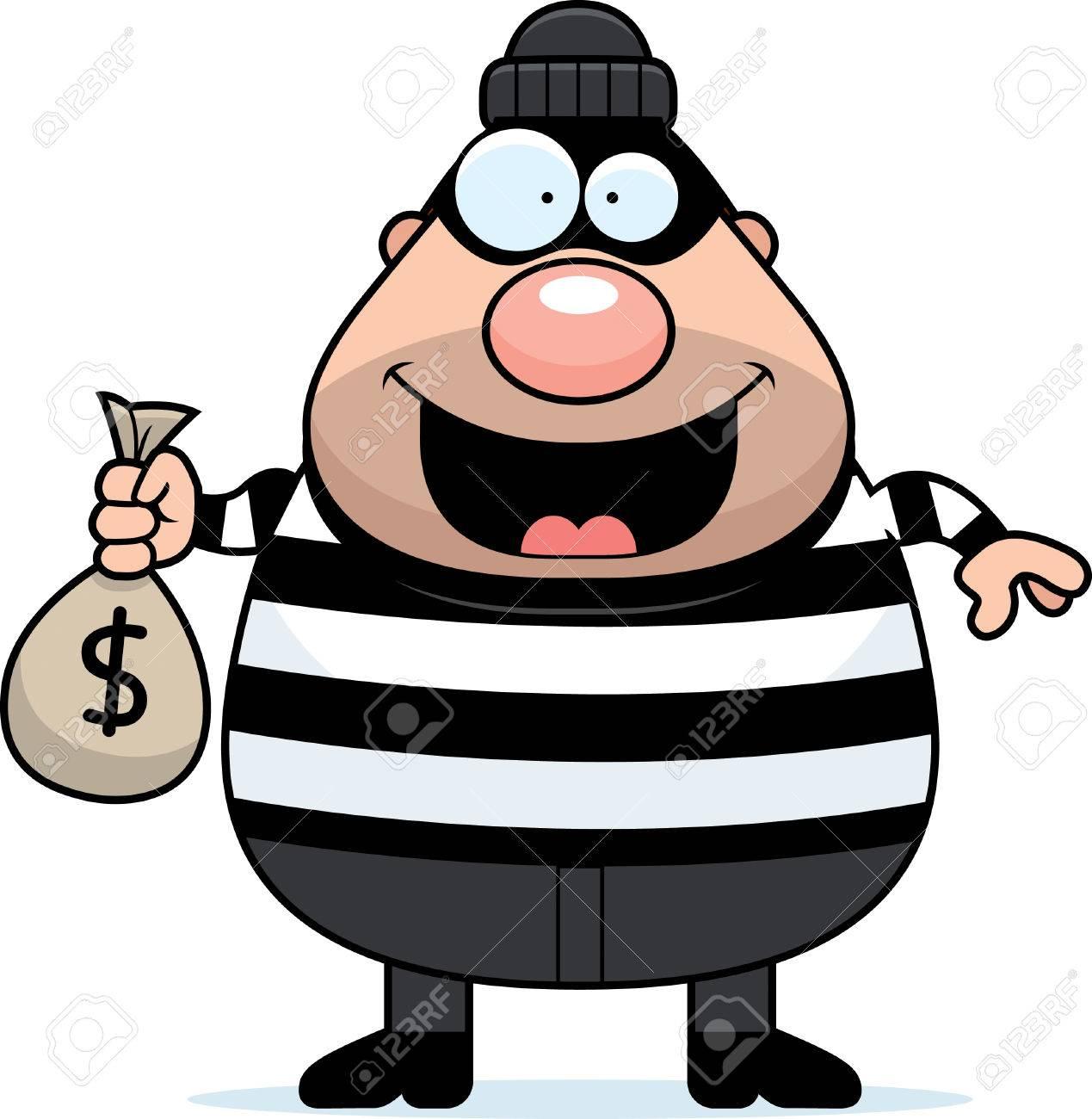 a cartoon illustration of a burglar with a moneybag royalty free rh 123rf com burglar alarm clipart animated burglar clipart