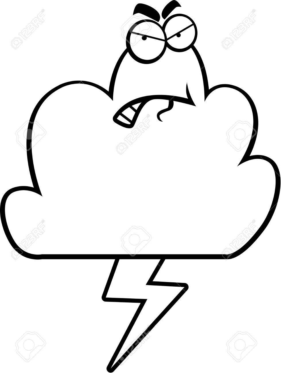 怒りの表現で漫画嵐雲のイラスト素材ベクタ Image 43332581