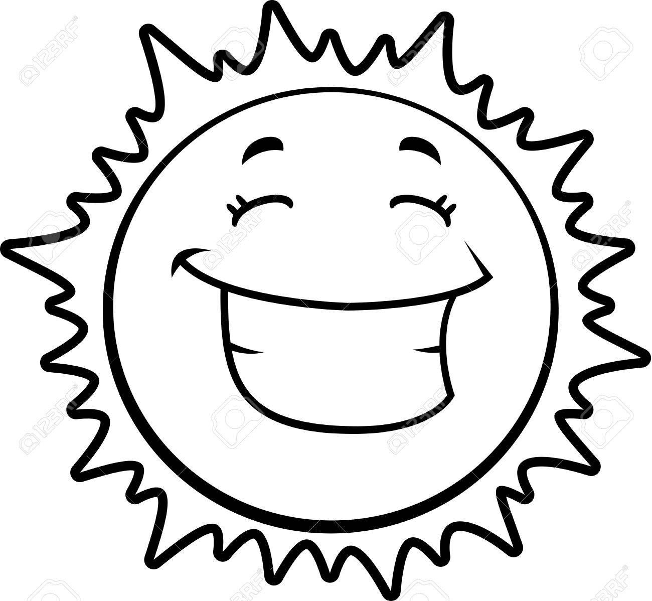 Sun clip art cartoon Royalty Free Vector Image