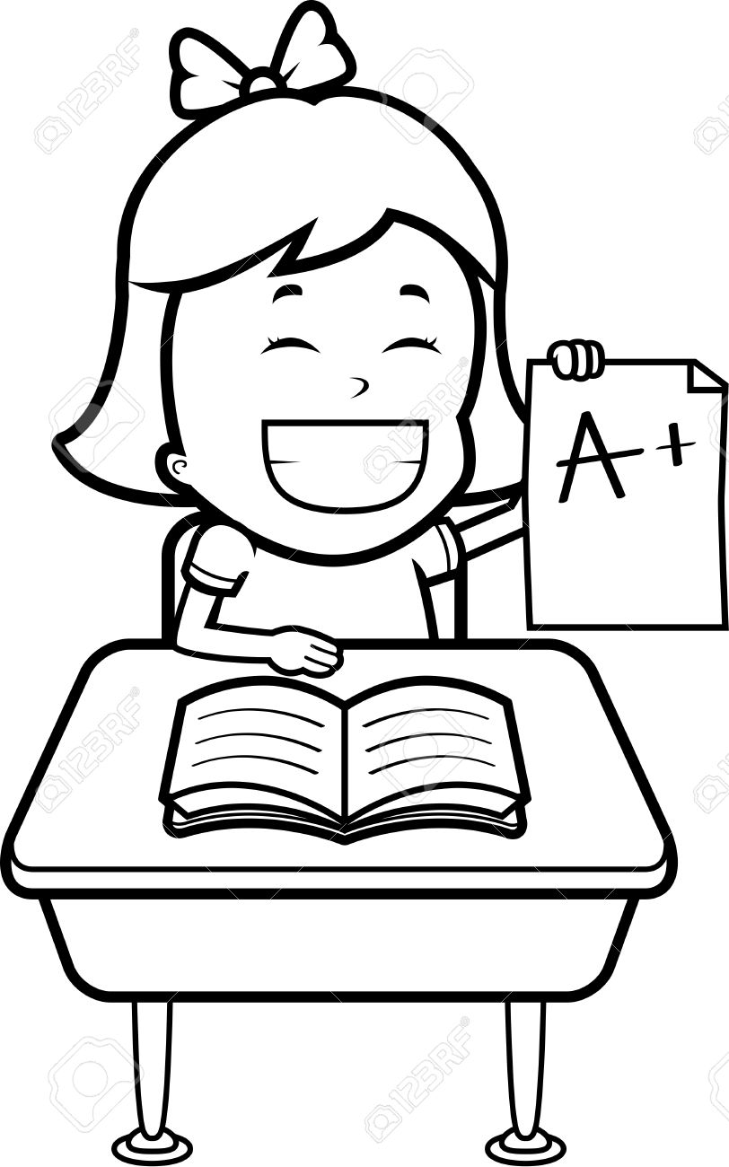 a happy cartoon student good grades royalty cliparts a happy cartoon student good grades stock vector 43783973