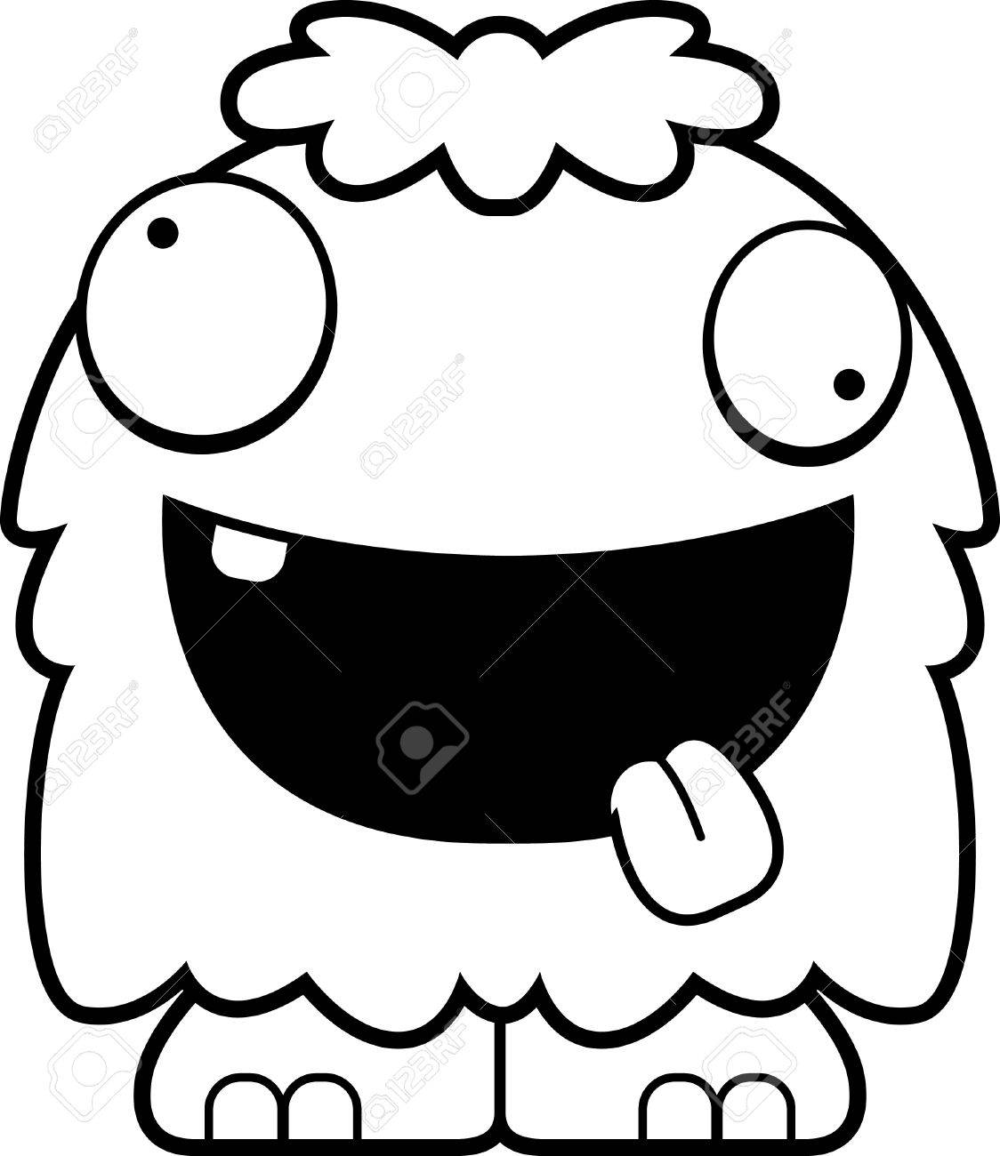 A Cartoon Illustration Of A Fluffy Monster Looking Crazy Royalty Free Cliparts Vectors And Stock Illustration Image 44863323