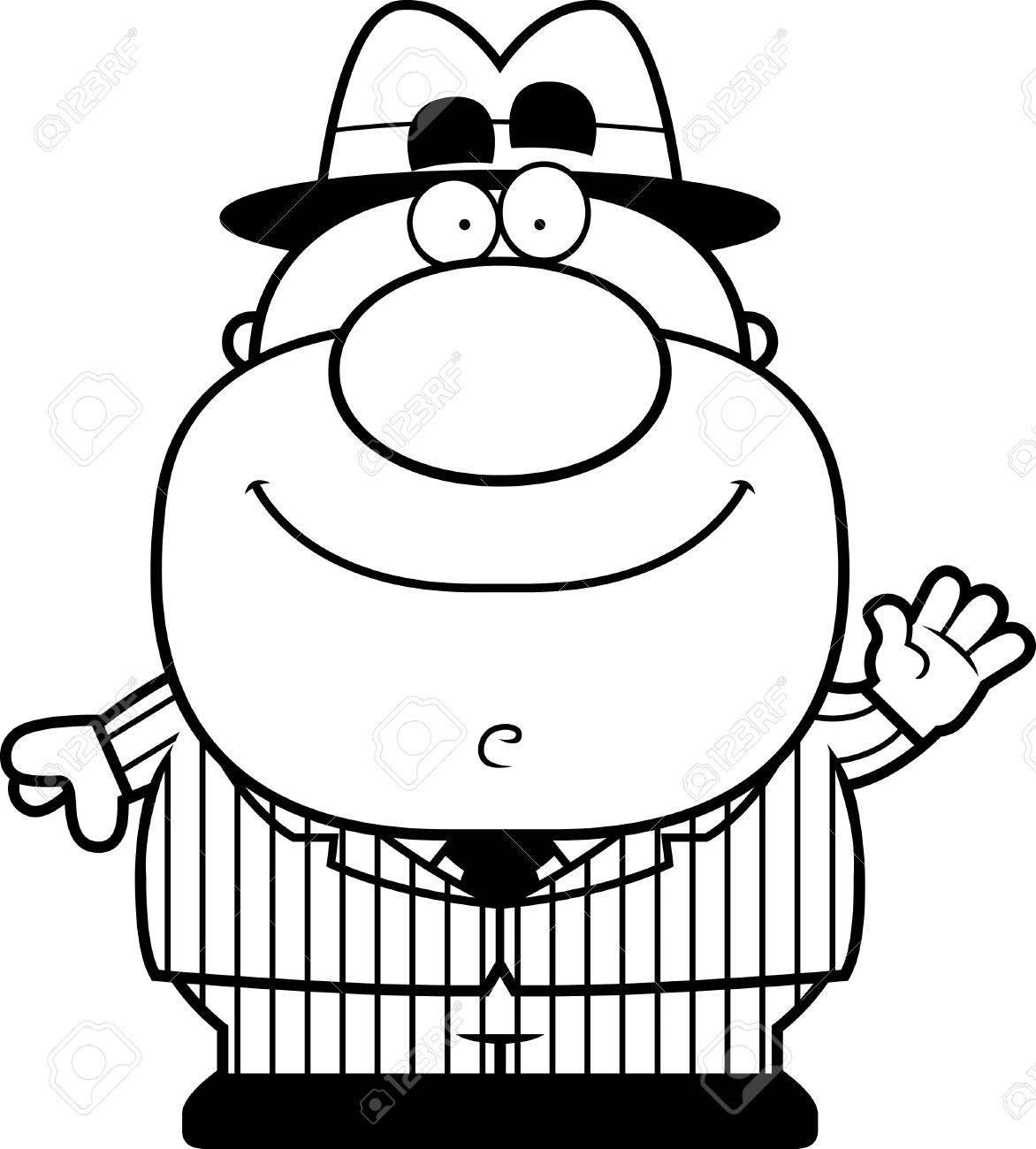 Une Illustration De Bande Dessinee D Un Gangster En Agitant Clip Art Libres De Droits Vecteurs Et Illustration Image 44861581