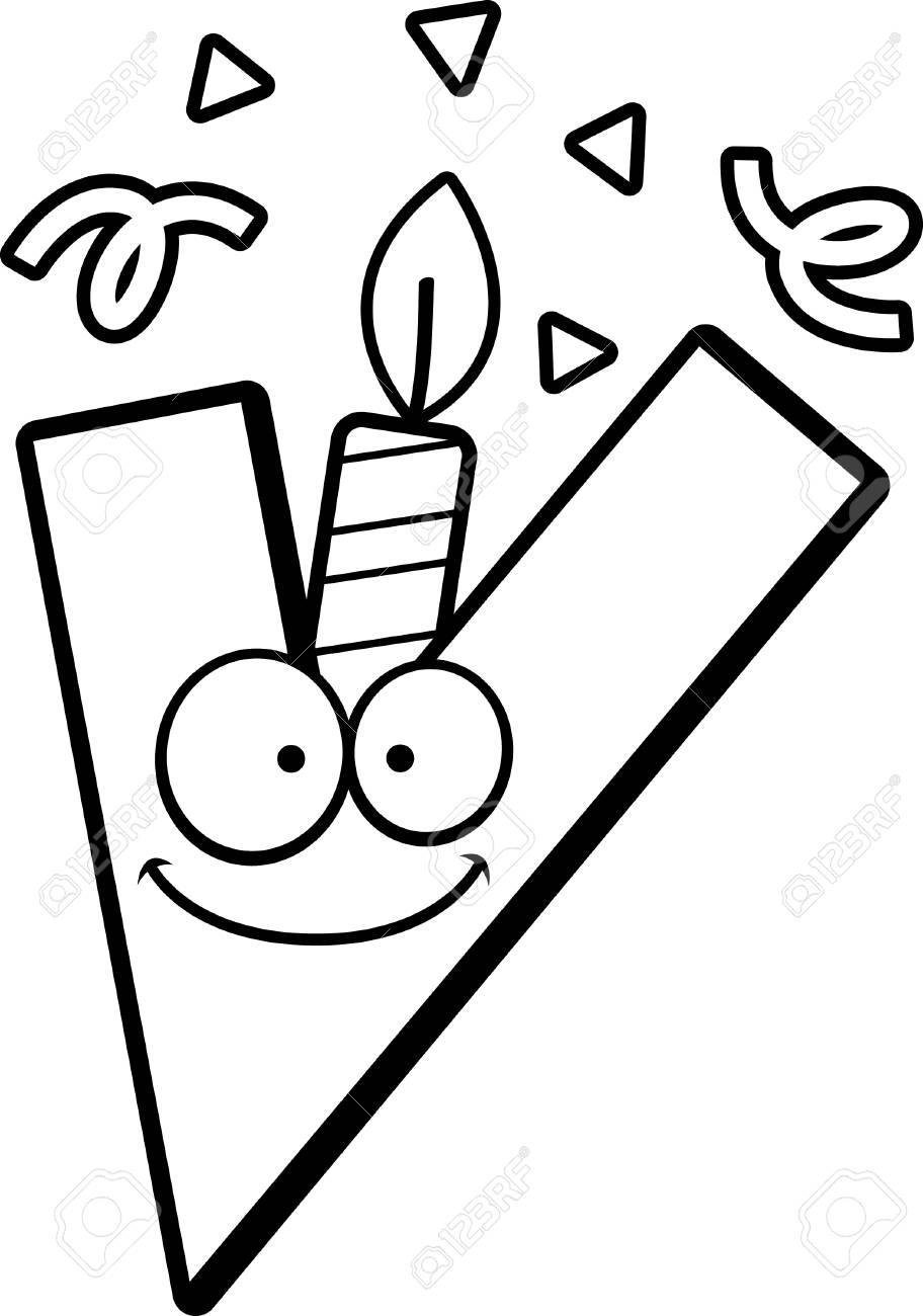 Una Ilustración De Dibujos Animados De Una Letra V Con Una Vela De