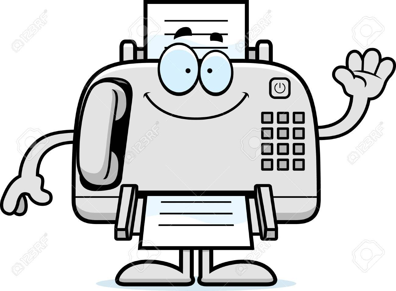 a cartoon illustration of a fax machine waving royalty free rh 123rf com fox clipart fox clipart free
