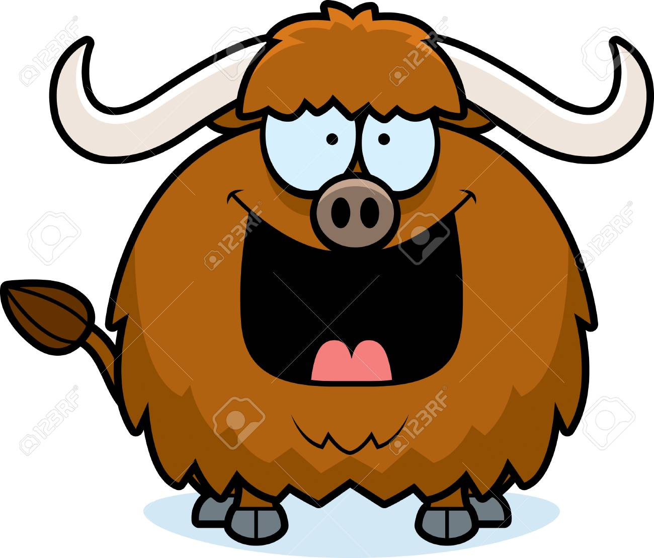 a cartoon illustration of a yak looking happy royalty free cliparts rh 123rf com yak clipart free Cartoon Yak