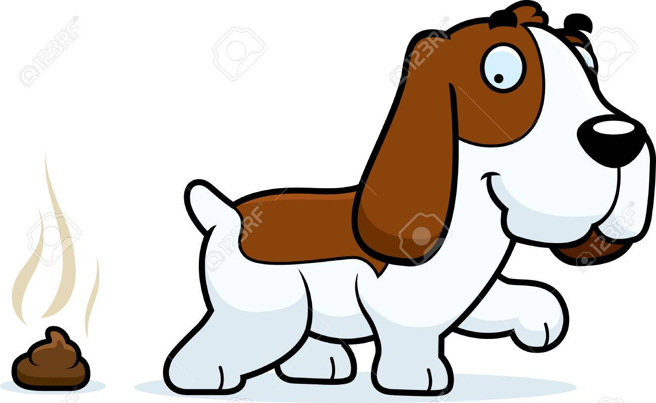 a cartoon illustration of a basset hound pooping royalty free rh 123rf com basset hound puppy clipart basset hound puppy clipart