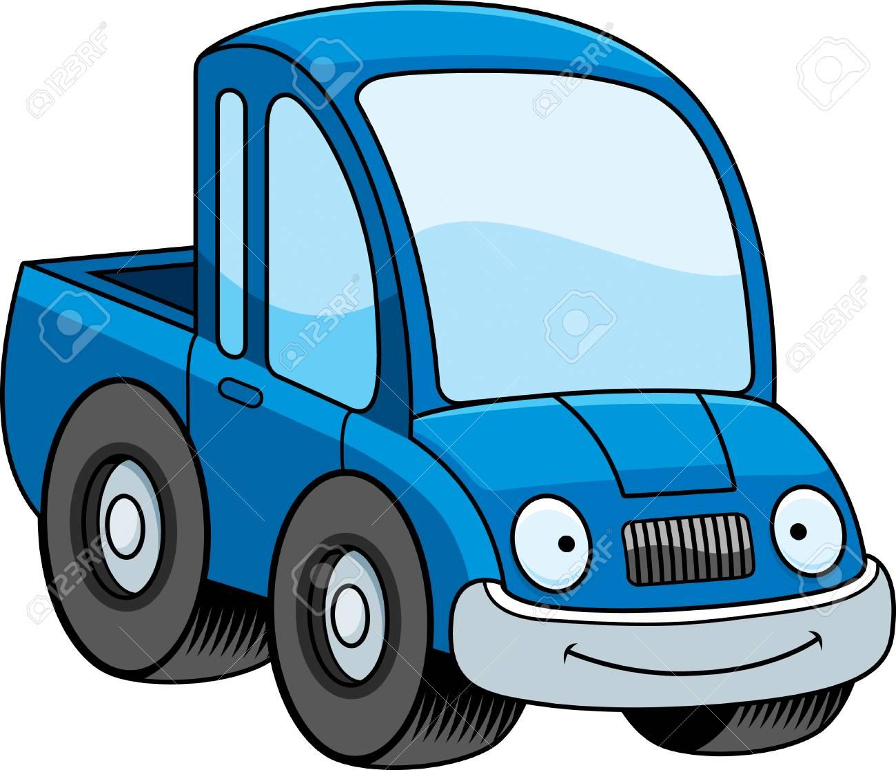 Una Ilustración De Dibujos Animados De Una Camioneta Sonriendo