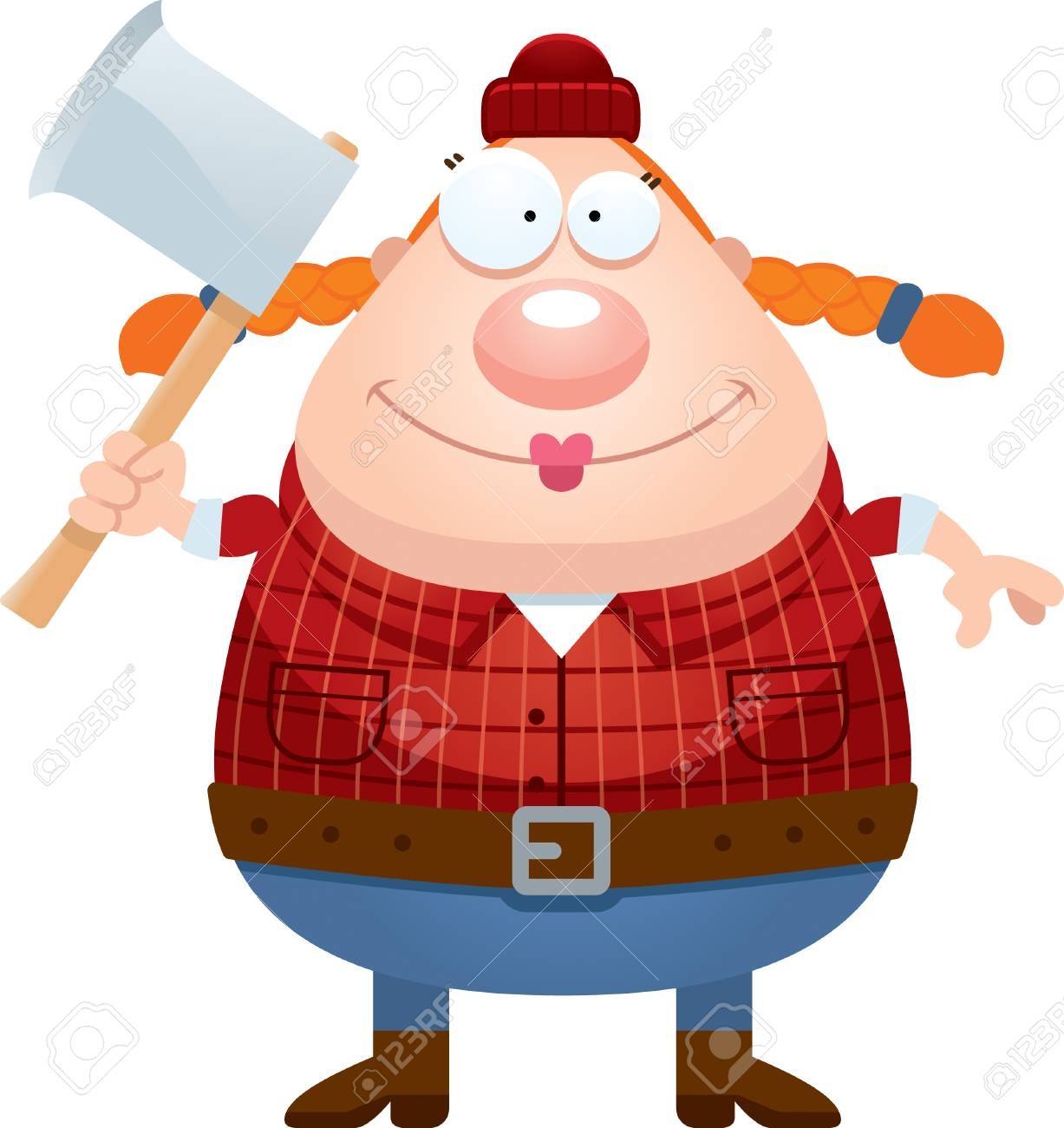 a cartoon illustration of a lumberjack looking happy royalty free rh 123rf com lumberjack hat clipart lumberjack clip art pictures