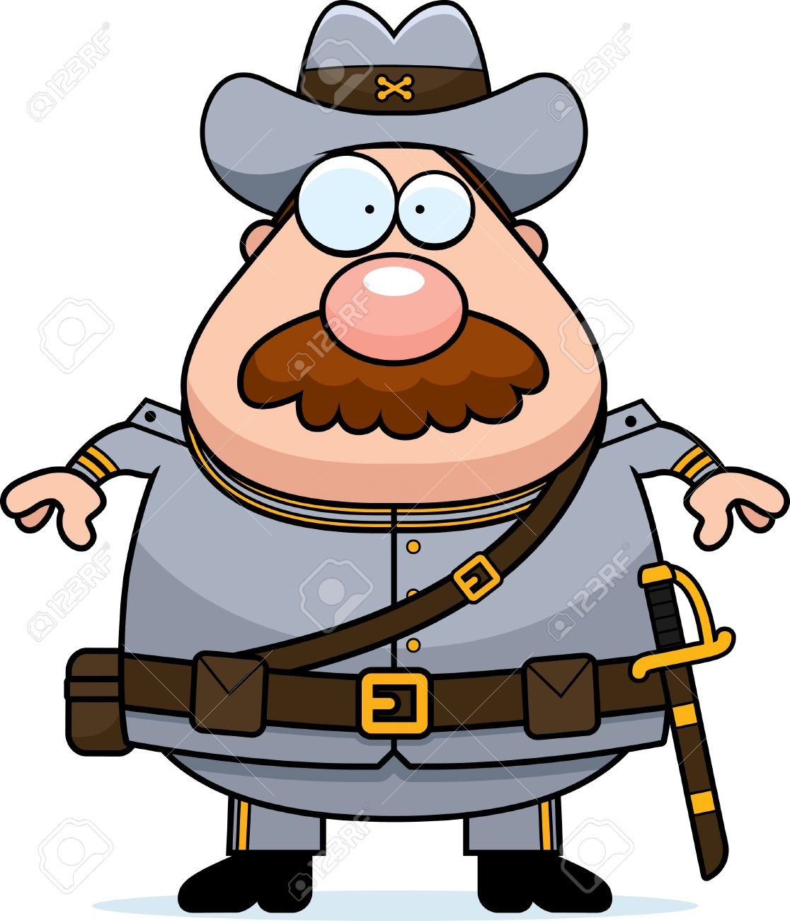 a cartoon illustration of a civil war confederate soldier with rh 123rf com