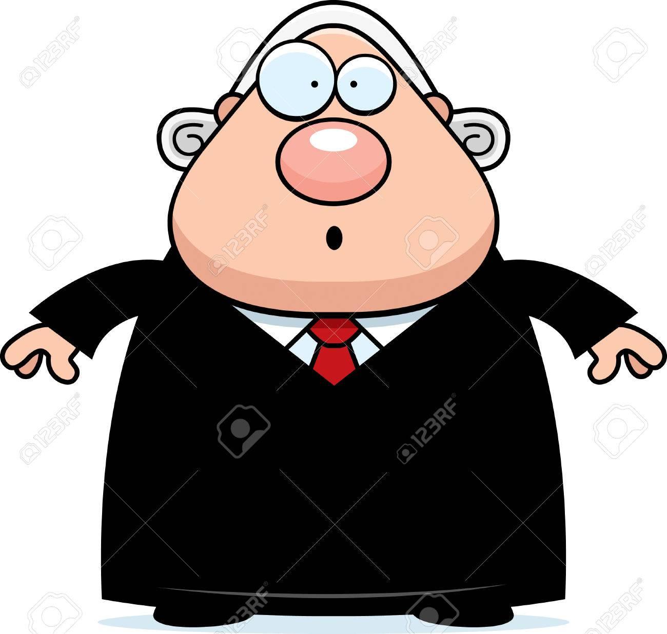 見てみるとビックリ裁判官の漫画イラスト。 ロイヤリティフリークリップ