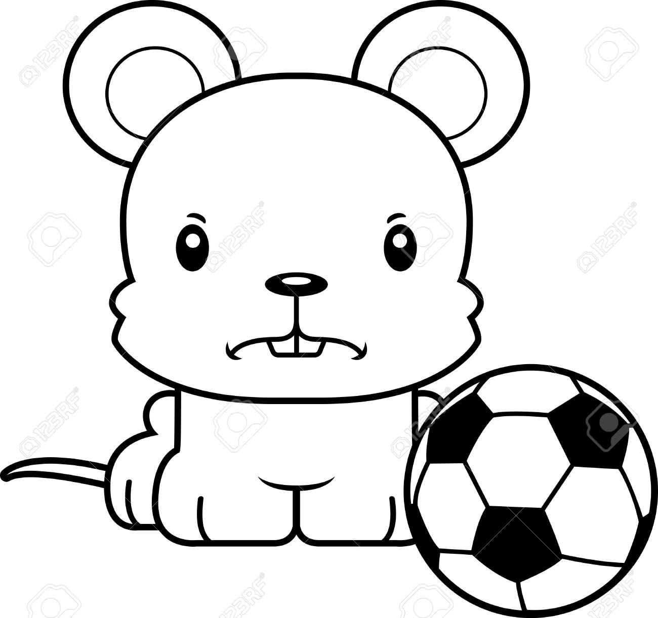 a cartoon soccer player mouse looking angry royalty free cliparts