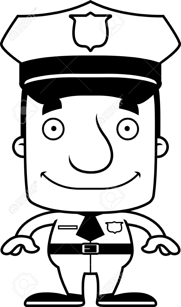 a cartoon police officer man smiling royalty free cliparts